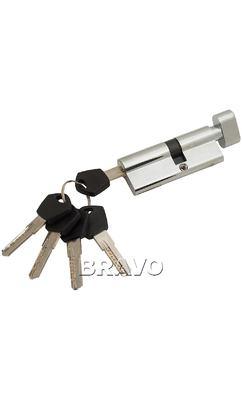 Цилиндр Ключ-фиксатор Avers АМ-80-С (45*35), цвет: CR Хром