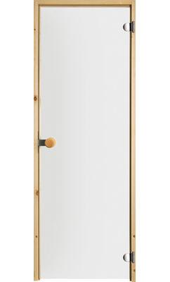 Дверь для сауны с круглой ручкой прозрачная JELD-WEN