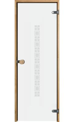Дверь для сауны с круглой ручкой Purity Square JELD-WEN