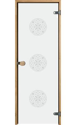 Дверь для сауны с круглой ручкой Purity Ornament JELD-WEN
