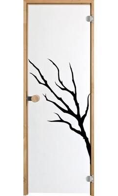 Дверь для сауны с круглой ручкой Purity Oksa JELD-WEN