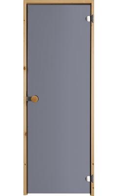 Дверь для сауны с круглой ручкой дымчато-серая JELD-WEN