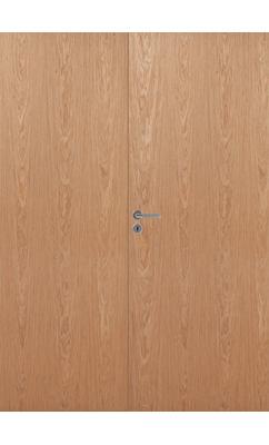 Дверь массивная гладкая двупольная Stable 401P шпонированная
