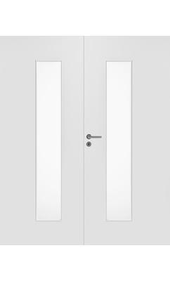 Межкомнатная дверь массивная гладкая двупольная Stable 420P с прозрачным стеклом