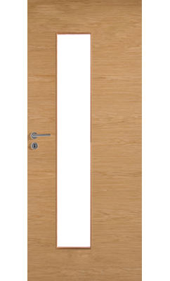 Межкомнатная дверь массивная гладкая Stable 420 шпонированная с прозрачным стеклом