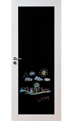 Межкомнатная дверь массивная Unique 501B с доской для рисования