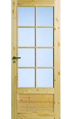 Филенчатая сосновая межкомнатная дверь под 8 стекол JELD-WEN N55