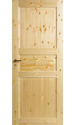 Трехфиленчатая сосновая межкомнатная дверь глухая однопольная нелакированная JELD-WEN N51