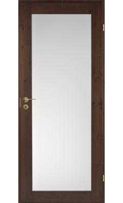 Межкомнатная дверь сосновая Unique Rustic 332S тонированная с матовым стеклом