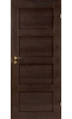 Межкомнатная дверь сосновая Unique Rustic 337 тонированная глухая