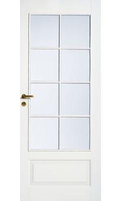 Дверь межкомнатная белая 4-хфиленчатая под 8 стекол JELD-WEN N42