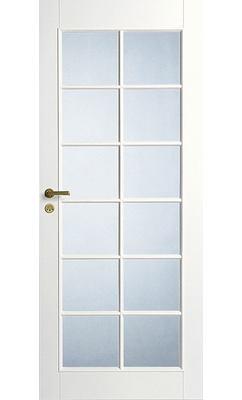 Дверь межкомнатная белая под 12 стекол JELD-WEN N20