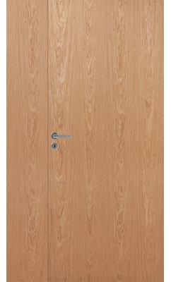 Межкомнатная дверь белая гладкая полуторная шпонированная JELD-Wen