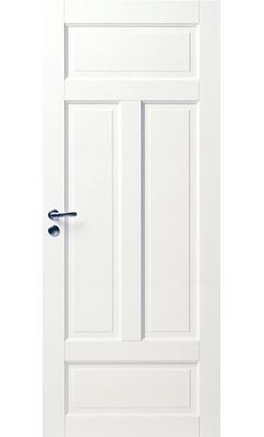 Межкомнатная дверь белая массивная 4-х филенчатая JELD-WEN N124