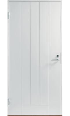 Входная дверь Jeld-Wen Basic 010 с фрезерованной внешней стороной и гладкой внутренней белая