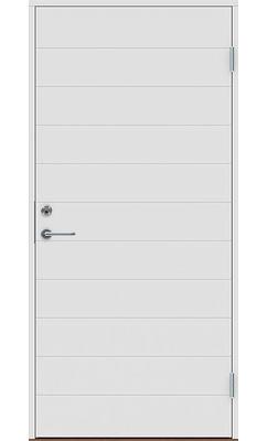 Входная дверь Jeld-Wen Basic 070 с фрезерованной внешней стороной и гладкой внутренней
