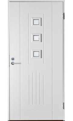 Входная дверь Jeld-Wen Basic 060 со стеклом Costwold с фрезерованной внешней стороной и гладкой внутренней