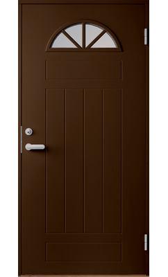 Входная дверь Jeld-Wen Basic 050 со стеклом Costwold с фрезерованной внешней стороной и гладкой внутренней коричневая