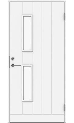 Входная дверь Jeld-Wen Basic 028 со стеклом Costwold с фрезерованной внешней стороной и гладкой внутренней