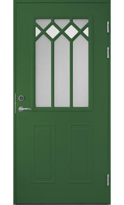 Входная дверь Jeld-Wen Classic C1881 W48 с декоративным стеклом, рисунок с обеих сторон