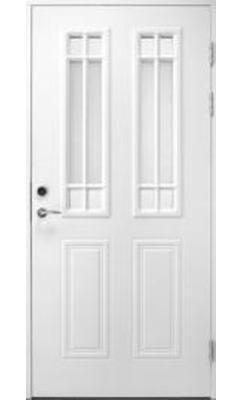 Входная дверь Jeld-Wen Classic C1881 W91 с декоративным стеклом, рисунок с обеих сторон