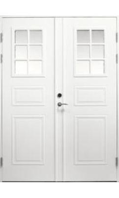 Входная дверь Jeld-Wen Classic C1850 W72 с декоративным стеклом, рисунок с обеих сторон, двухстворчатая