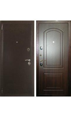 Входная дверь Zetta ЕВРО 2 Б2 АРКА темный орех