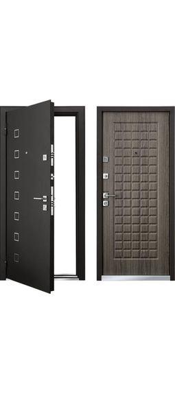 Cтальная дверь Мастино ТERRA Каштан темный (Ареа)