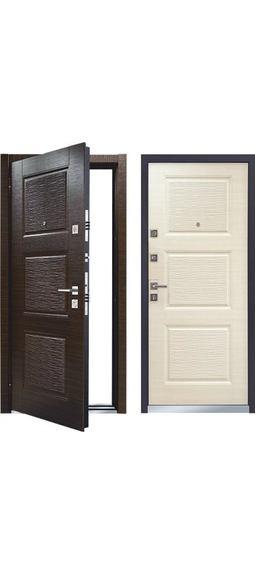 Cтальная дверь Мастино MONTE Темный венге / Светлый венге (быв. Лайн 3)