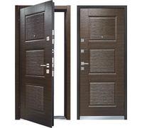 Cтальная дверь Мастино MONTE Темный венге (быв. Line 3)