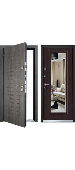 Cтальная дверь Mastino - модель Marke Каштан темный / Венге