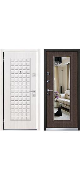 Cтальная дверь Mastino - модель Marke Шамбори светлый / Каштан темный