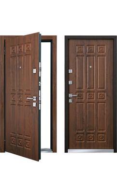 Cтальная дверь Мастино MONTE Орех грецкий (быв. Новара)