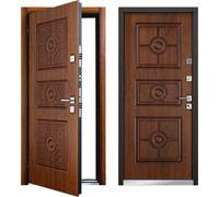 Cтальная дверь Мастино МONTE Дуб медовый патина