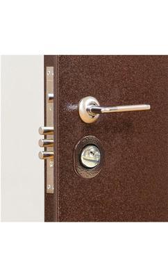 Входная металлическая дверь Бульдорс -23 орех мил/ дуб беленый