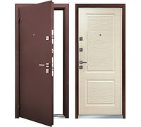 Металлическая дверь Мастино ЛАЙН-2С светлый венге