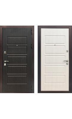 Входная дверь ЗЕТТА Оптима 3 Венге / Дуб белёный