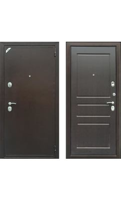Стальная дверь Зетта EВРО 2 Б2 Патина венге