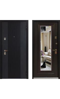 Входная дверь Бульдорс 44Т new Зеркало ларче тёмный