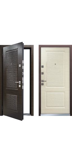 Cтальная дверь Мастино MONTE Темный венге / Светлый венге (быв. Лайн 2)
