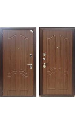 Входная дверь Зетта Комфорт 3 Д1 тисненый орех (РАСПРОДАЖА)