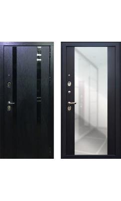Входная дверь ПЕРСОНА ГРАНД-1 Зеркало пол-потолок венге
