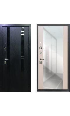 Входная дверь ПЕРСОНА ГРАНД-1 Зеркало пол-потолок Сандал белый