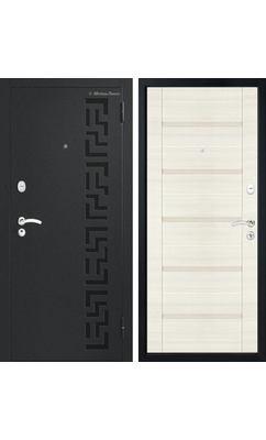 МетаЛюкс Стандарт М201 Черный шелк / ЭКО дуб молочный вертикальный