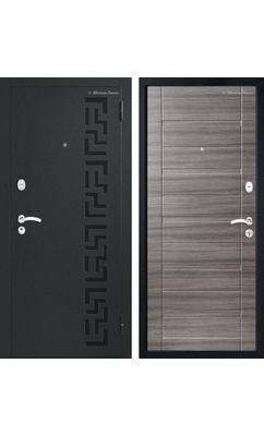 МетаЛюкс Стандарт М202 Черный шелк / ЭКО каштан серый