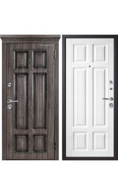 МетаЛюкс Статус М706.3 Дуб серый + патина / Белая текстурная (Улица)